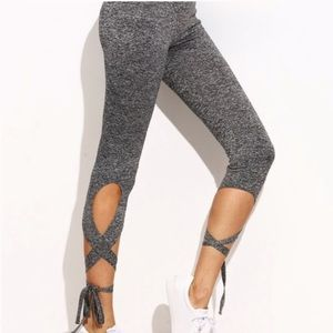 Scorpio sol cross tie leggings active pants
